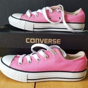 Girl's Pink Converse All Star Shoes Youth Size 13